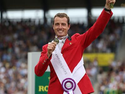 Grégory Wathelet is the new European vice champion Grégory Wathelet on the podium in Aachen
